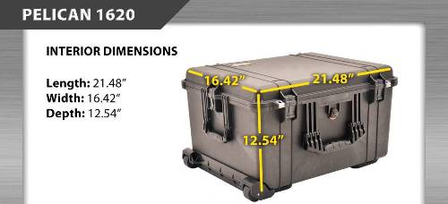Pelican 1620 Large Case with FOAM &  FREE SHIPPING!