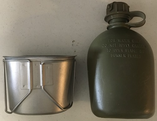 USGI ISSUE Canteen Cup and/or 1 Qrt Canteen_MAIN