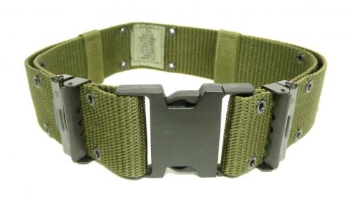 USGI LC2 Nylon Pistol Belt OD Green_MAIN
