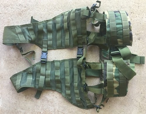 Woodland BDU Ranger Rack Load Bearing Vest with Padded Brokos/Battle/Utility Belt MAIN