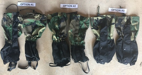 USGI Military Issue Woodland BDU Gaiters MAIN