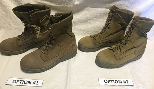 US Marine Corp Bates or Belleville Steel Toe Boots with EGA