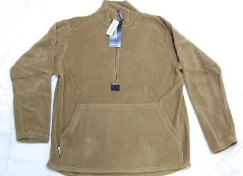 USMC 3/4-Zip Polartec Pullover Fleece Jacket Coyote Brown