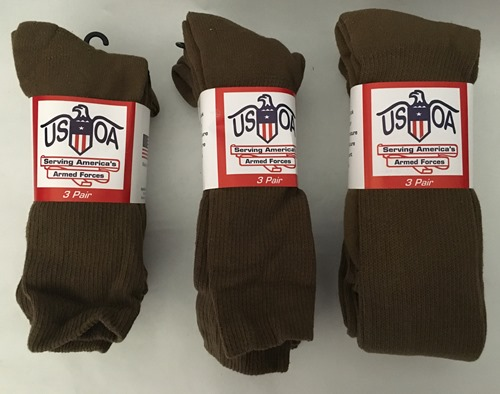 Coyote Brown Military Anti-Microbial Boot Socks MAIN