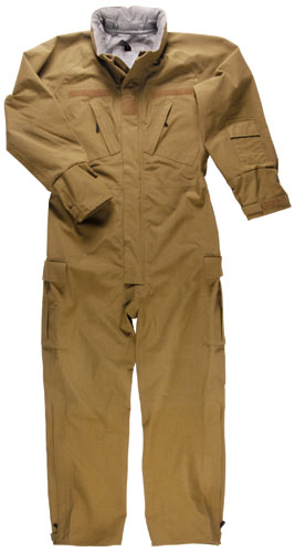 Propper Flame Resistant Fuel Handler Coverall Coyote Brown