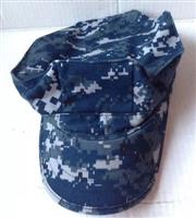 US Navy 8 Point NWU Blueberry Garrison Cap Hat_THUMBNAIL