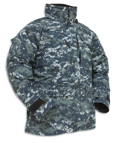 US Navy NWU Blue Digital 'Blueberry' Utility Gore-Tex Parka MAIN