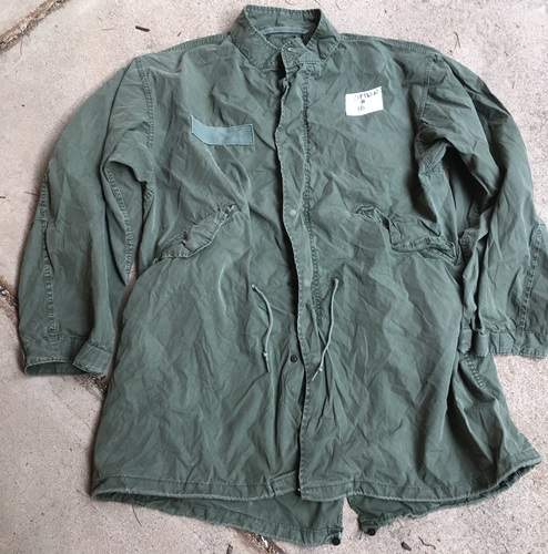 Vintage Vietnam Era USGI M-1965 Fishtail Parka WITH Liner AND HOOD! Med/Reg 1972 Used_MAIN