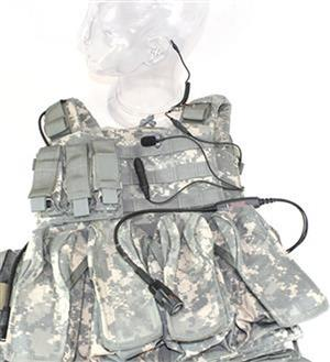 Tactical Command Special Forces Low-Visibility Three-Wire Communication Kit (SFCS) LARGE