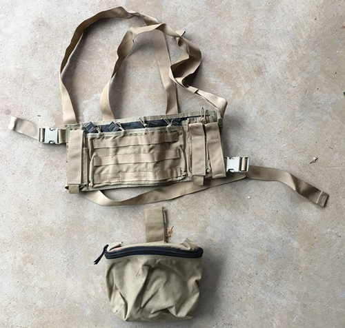 Battlelab Diamondback Low Visibility Chest Rig w Drop Leg Dump Pouch LARGE