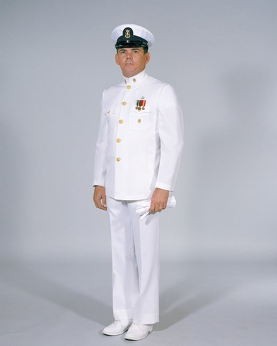 US Navy Petty Officer Dinner Dress Whites LARGE