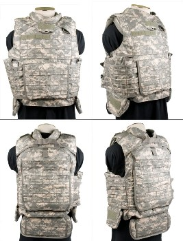 ACU Digital  IOTV Tactical Vest INCLUDES  Kevlar Inserts LARGE