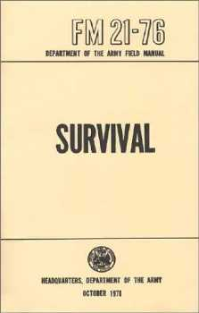 US Army Issue Survival FM 21-76 Handbook