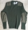US Army Olive Drab 100% Wool Sweater SWATCH
