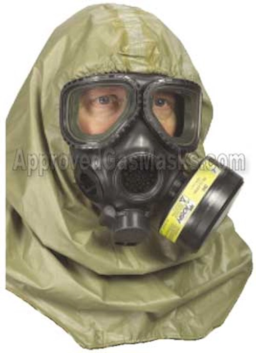 USGI Universal Series Military Gas Mask Hood LARGE