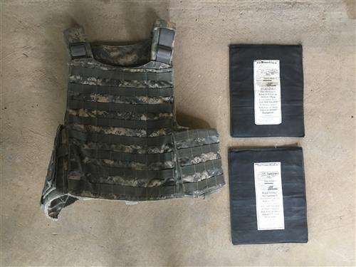 Tactical Assault Gear AEGIS Plate Carrier WITH Ballistic Kevlar Inserts LARGE