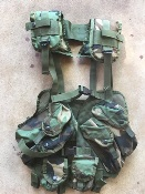 Enhanced Tactical Load Bearing Vest LBV Molle Woodland