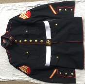 USMC Marine Corp Dress Blue Blouse  & Pant Set (44Reg Blouse, 36 Reg Pant)