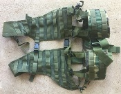 Woodland BDU Ranger Rack Load Bearing Vest with Padded Brokos/Battle/Utility Belt