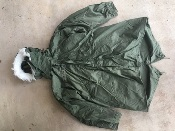 Vintage USGI M-1965 Fishtail Parka WITH Liner AND HOOD! Med/Reg 1975