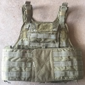 Eagle Industries MBAV Khaki Plate Carrier with Cumberbund and WITH Kevlar Inserts