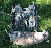 Molle II BDU Woodland Large Ruck Frame, Shoulder Straps & Molded Waist Belt