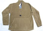 USMC 3/4-Zip Polartec Pullover Fleece Jacket Coyote Brown THUMBNAIL