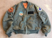 USAF 1973 Vintage Vietnam Era L-2B Light Zone Size XL w CUSTOM Insignia THUMBNAIL