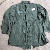 Vintage Vietnam Era USGI M-1965 Fishtail Parka WITH Liner AND HOOD! Med/Reg 1972 Used