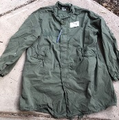 Vintage Vietnam Era USGI M-1965 Fishtail Parka WITH Liner AND HOOD! Med/Reg 1972 Used THUMBNAIL