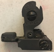 A.R.M.S. #40 USGI BUIS (Back-up Iron Sight) Stand Alone Flip Up Rear Sight_THUMBNAIL