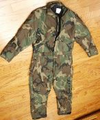 Dakota Outerwear Quilt Lined Insulated Coverall Woodland BDU Camouflage_THUMBNAIL