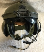 US Military  SPH-4 Airmen Aircrew Helmet with all Comms XL Green THUMBNAIL