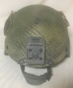 Custom Painted Specialty Defense Issue ACH MICH Kevlar Ballistic Helmet w accessories_THUMBNAIL