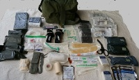 US Army Issue M3 Tri-Fold Medic Kit with Supplies