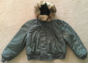 Vietnam Era 1969 USAF Issue N2-B Flight Jacket w Arctic Wolf Fur Ruff THUMBNAIL