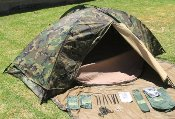 Eureka Military TCOP Combat One Person Tent Woodland THUMBNAIL