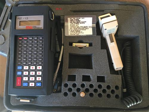 Portable Bar Code Reader Lot of 3 w Pelican Case LARGE