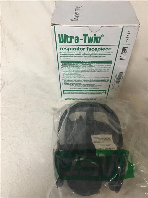 MSA Ultra Twin Full Face Respirator, Silicone LARGE