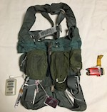 1 Naval Air System MA-2 Adjustable Integrated Parachute Restraint Harness with survival tools THUMBNAIL