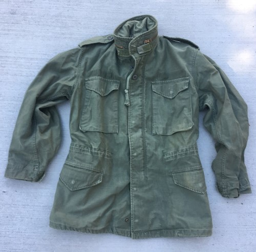 Army Surplus Vietnam Era OG 107 M1965 Field Jacket Small/Regular SWATCH