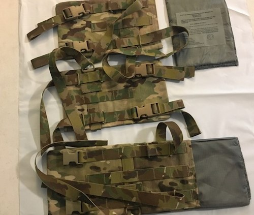 KDH Defense Soldier Plate Carrier System Kevlar Shell and/or Kevlar Insert Sizes XS-S & M-L LARGE