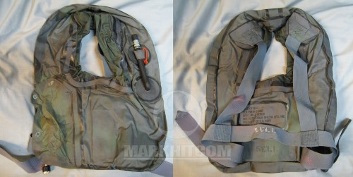 US Navy Seal UDT Horse Collar With Inflatable Survival Vest Mini-Thumbnail