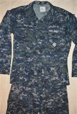 Female US Navy Type I NWU Blueberry Blouse THUMBNAIL