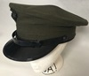 US Marine Corp Alpha Enlisted Green Service Uniform Cap w Emblem Mini-Thumbnail