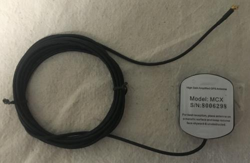 High Gain Amplified GPS Antenna Model MCX S/N 8006298 SWATCH