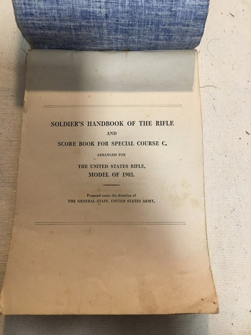 WW I Soldiers Handbook of the 1903 Sniper Rifle SWATCH