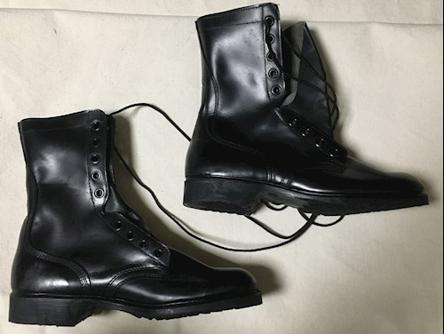 Army Issue Leather Combat Boots 9 Reg SWATCH
