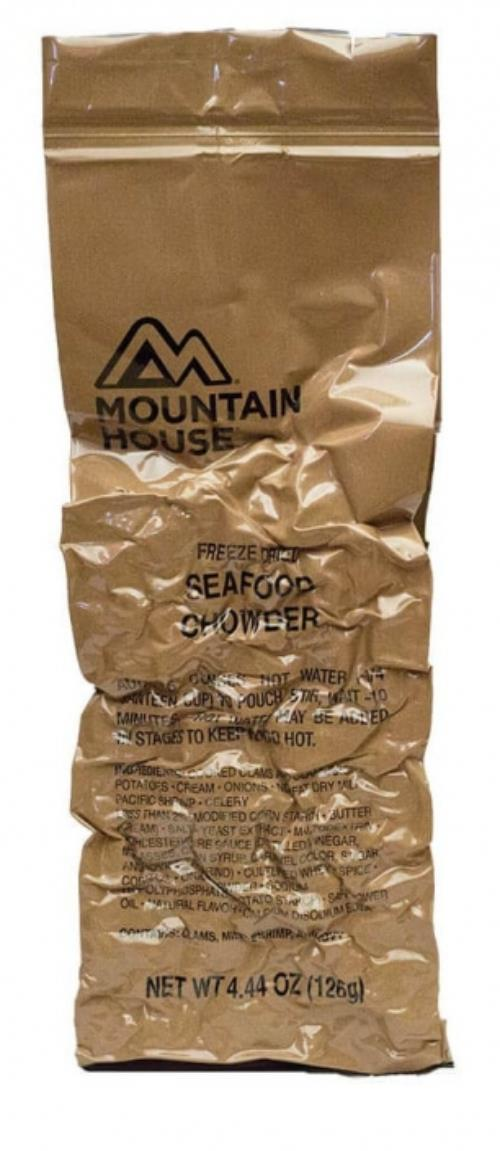 1 Mountain House Freeze Dried Long Range Patrol LRP Meal, Cold Weather MCW SWATCH