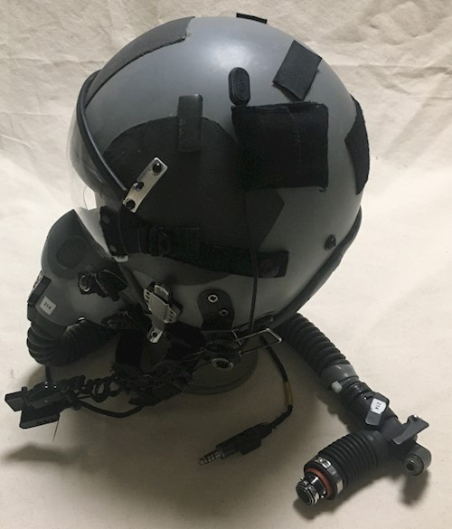 Gentex HGU 55/P HALO Fighter Pilot Helmet w MBU 20 A/P Oxygen Mask & Comms SWATCH